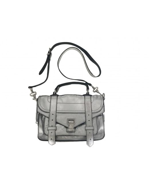 Proenza Schouler   Metallic Pre-owned Ps1 Tiny Leather Crossbody Bag   Lyst