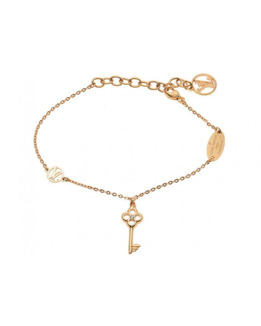 Louis Vuitton | Pre-owned Yellow Metal Bracelet | Lyst
