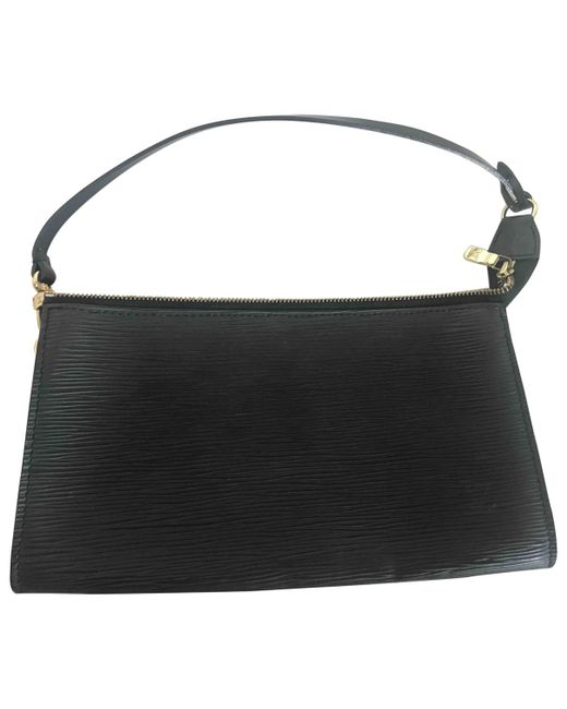 Louis Vuitton - Black Pochette Accessoire Leather Handbag - Lyst