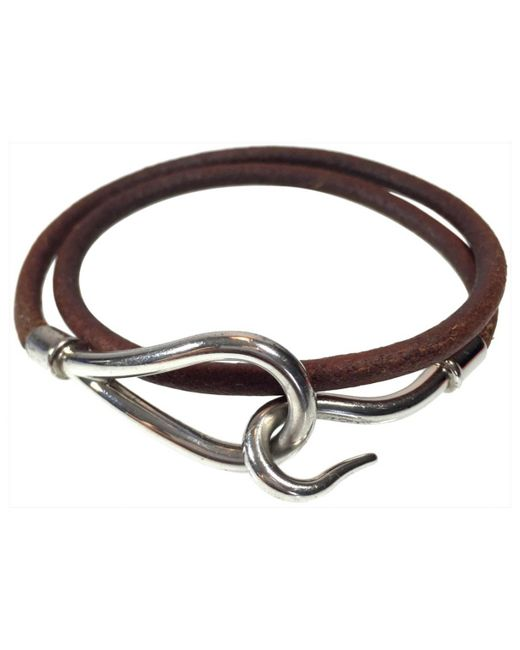 Hermès | Brown Pre-owned Jumbo Leather Bracelet | Lyst