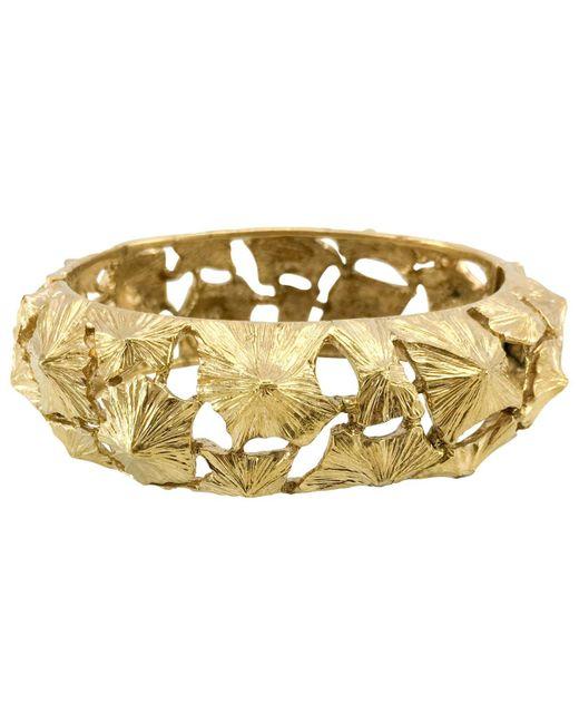Lanvin - Metallic Gold Metal Bracelet - Lyst