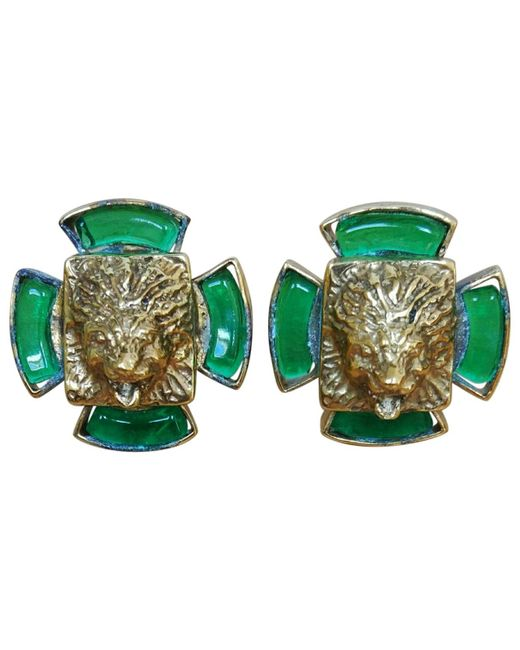 Chanel - Green Earrings - Lyst