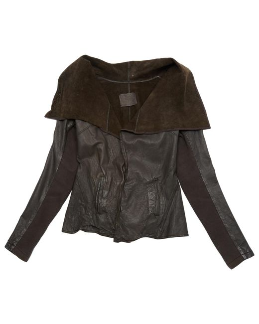 AllSaints - Pre-owned Brown Leather Coats - Lyst