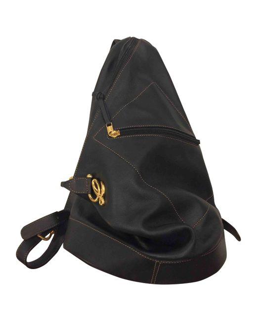 Loewe - Blue Leather Backpack - Lyst