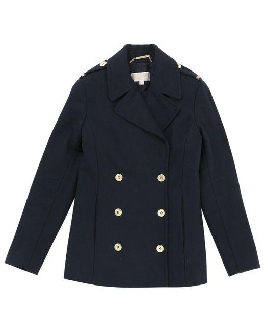 Michael Kors - Pre-owned Blue Wool Coats - Lyst