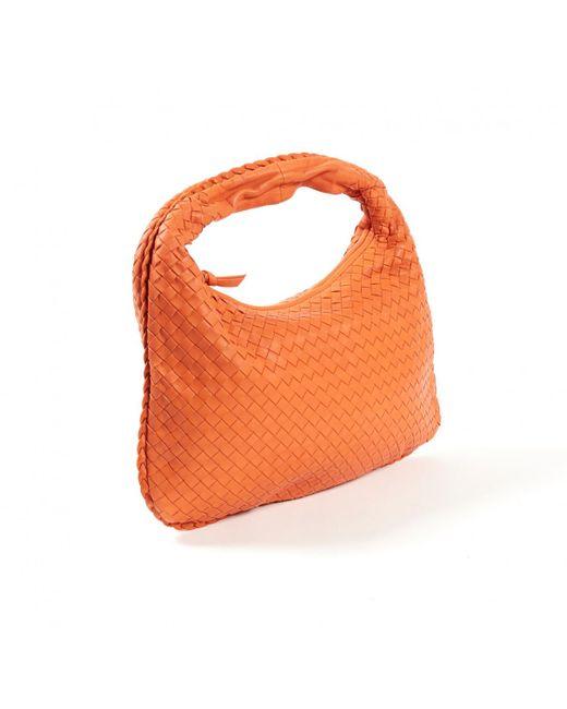69ac57be60d9 ... Bottega Veneta - Pre-owned Veneta Orange Leather Handbag - Lyst ...