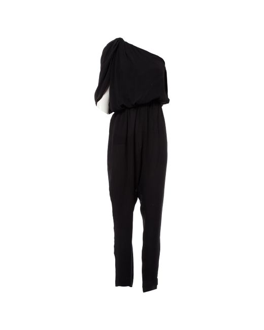 Lanvin - Black Silk Jumpsuit - Lyst