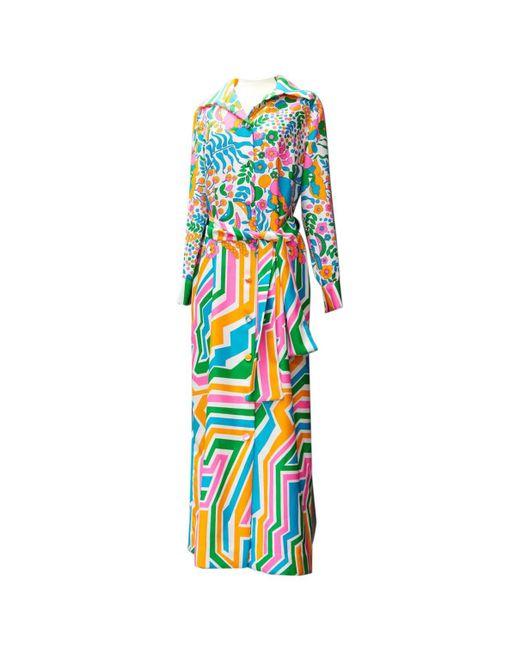 Lanvin - Blue Pre-owned Vintage Multicolour Other Dress - Lyst