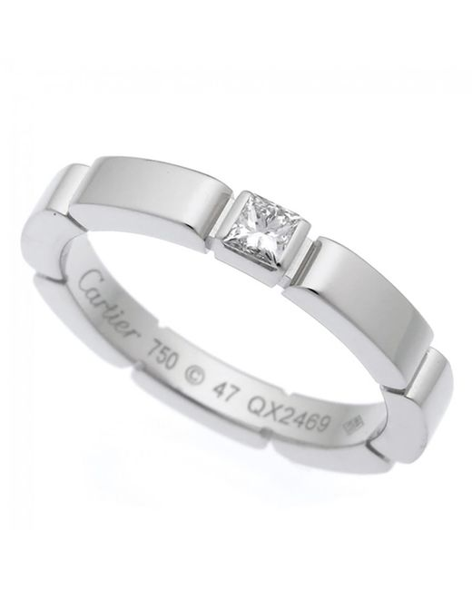 Cartier - Metallic Pre-owned Maillon Panthère White Gold Ring - Lyst
