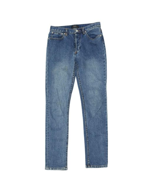 A.P.C. - Blue Straight Jeans - Lyst