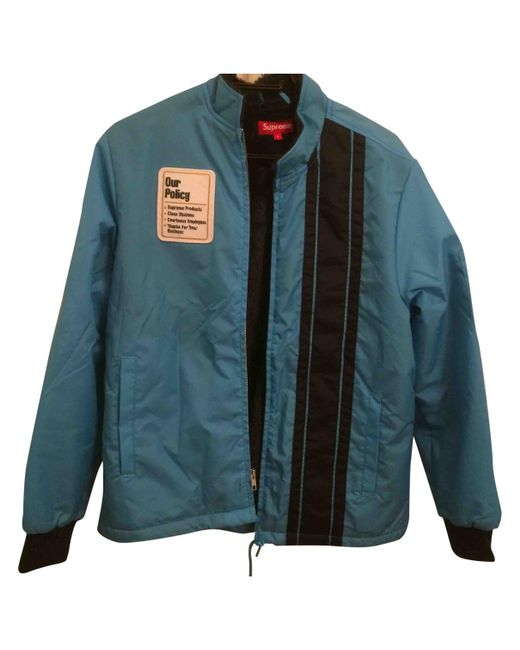 Supreme - Blue Pre-owned Jacket for Men - Lyst