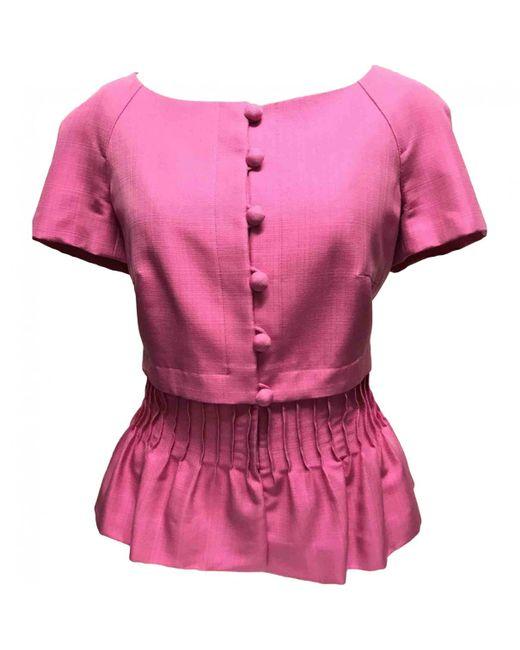 Dior - Pink Pre-owned Silk Short Vest - Lyst