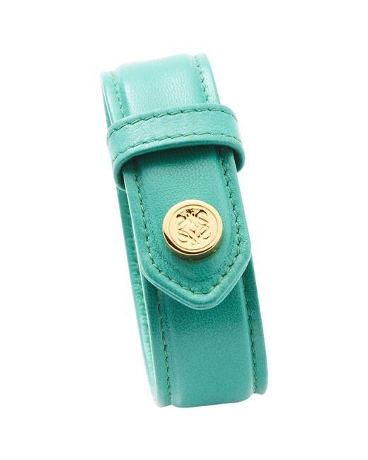 Loewe - Green Leather Bracelet - Lyst