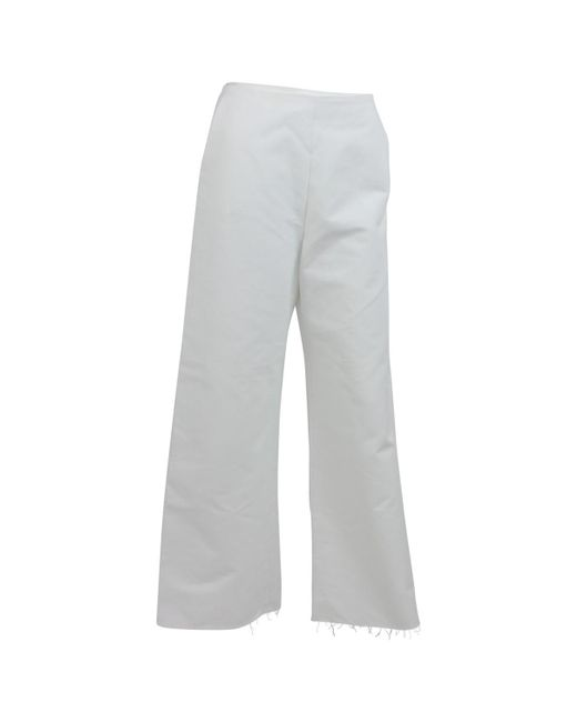 Maje - White Pre-owned Suit Pants - Lyst