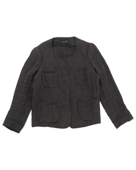 Isabel Marant - Gray Grey Linen Jacket - Lyst