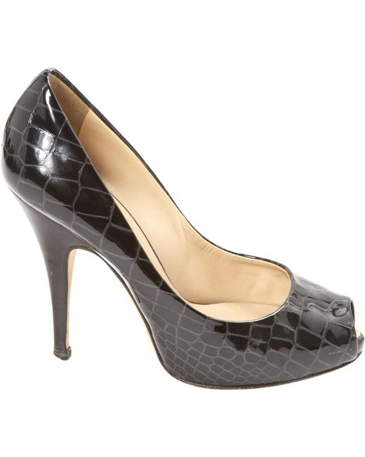 Giuseppe Zanotti - Black Pre-owned Patent Leather Heels - Lyst
