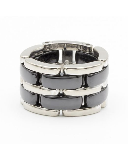 Chanel - Metallic Ultra Silver White Gold Ring - Lyst
