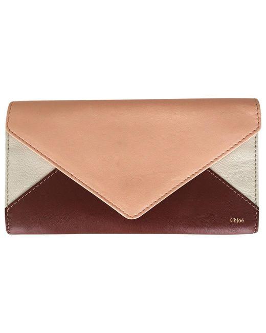 Chloé - Brown Multicolour Leather Wallets - Lyst