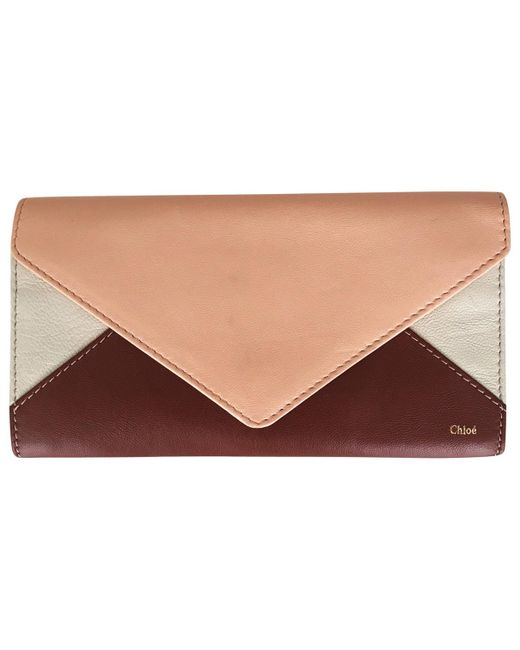 Chloé - Brown Pre-owned Leather Wallet - Lyst