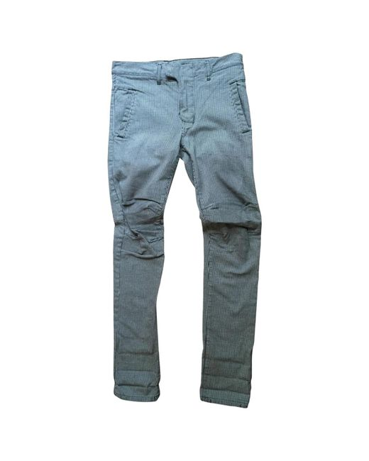 Balmain - Blue Pre-owned Other Cotton Jeans for Men - Lyst