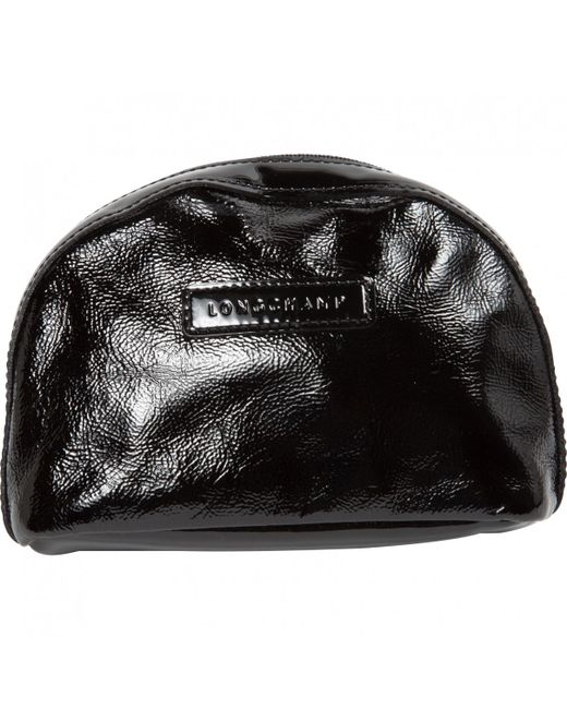 Longchamp - Black Patent Leather Clutch Bag - Lyst ... d20e9eb6715df
