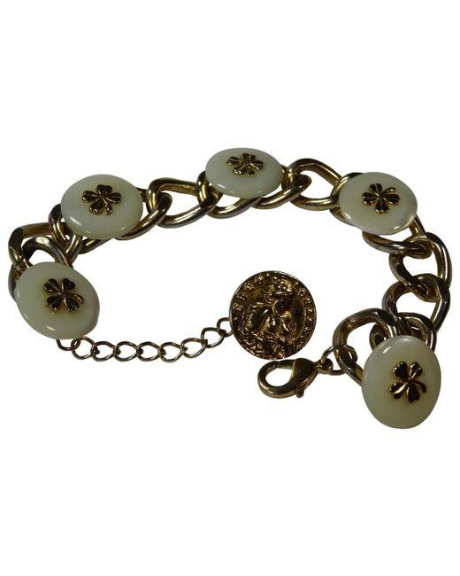 Chanel - Metallic Pre-owned Vintage Gold Plastic Bracelets - Lyst