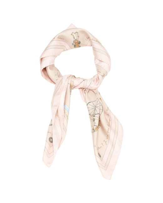 Hermès - Pink Carré Silk Scarf - Lyst