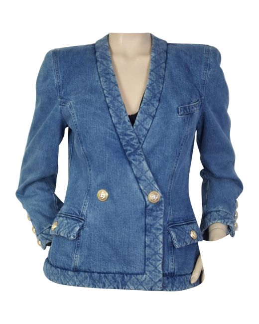 Balmain | Blue Denim - Jeans Jacket | Lyst