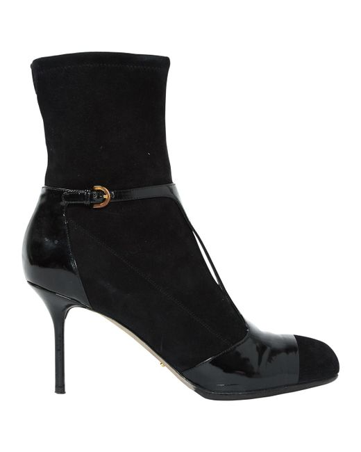 Sergio Rossi - Black Pre-owned Ankle Boots - Lyst