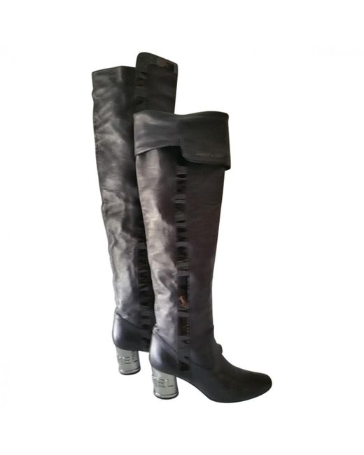 Chanel - Black Boots - Lyst