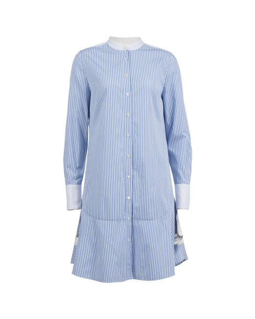 Tory Burch - Blue Cotton Dress - Lyst