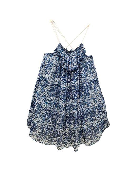 Étoile Isabel Marant - Blue Silk Dress - Lyst