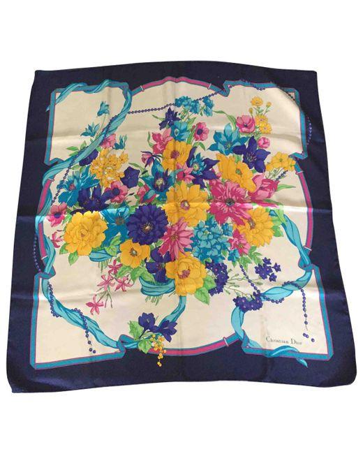 Dior - Blue Silk Handkerchief - Lyst