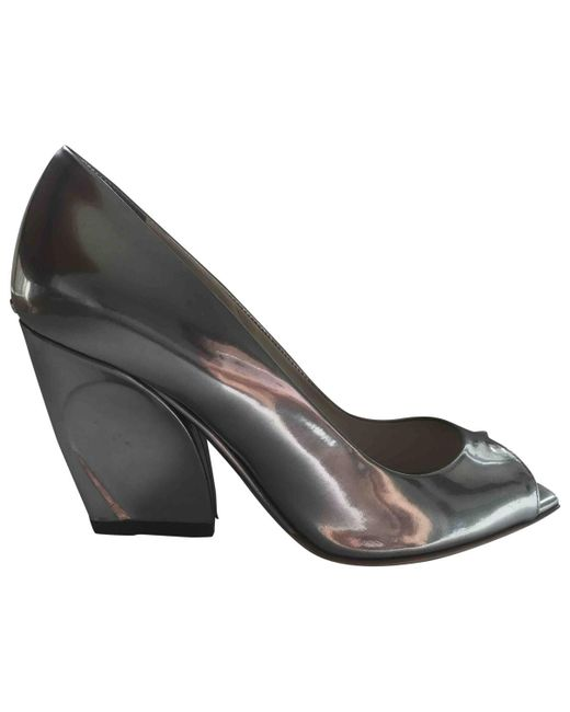 Dior - Metallic Pre-owned Patent Leather Heels - Lyst