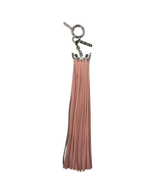 Fendi - Pre-owned Pink Leather Bag Charms - Lyst