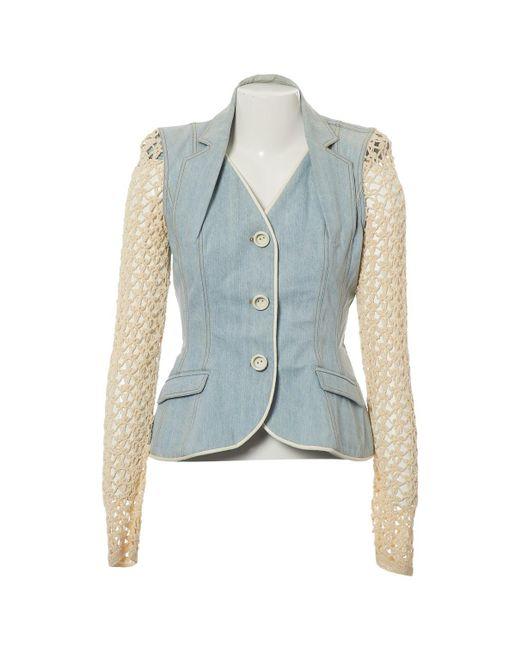 Dior - Vintage Blue Cotton Jacket - Lyst