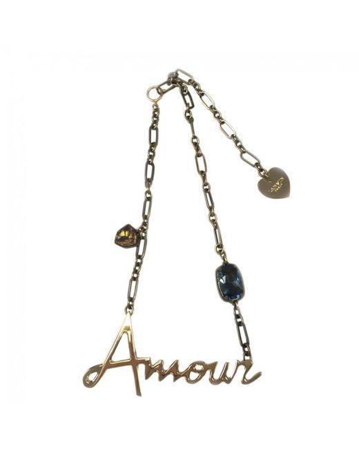 Lanvin - Metallic Gold Metal Necklace - Lyst