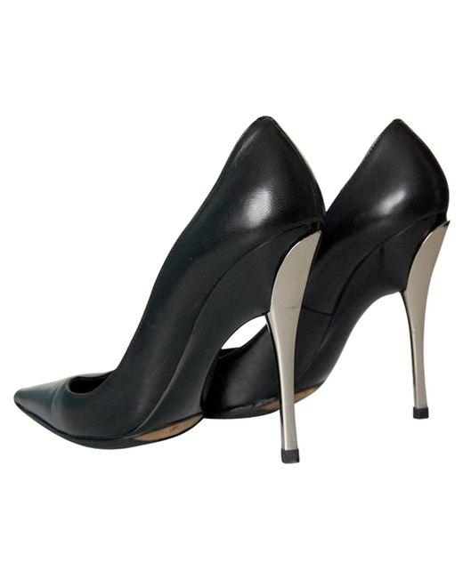 Giuseppe Zanotti - Black Leather Heels - Lyst