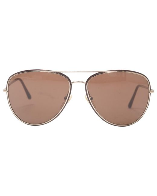 Dior - Pre-owned Brown Metal Sunglasses for Men - Lyst