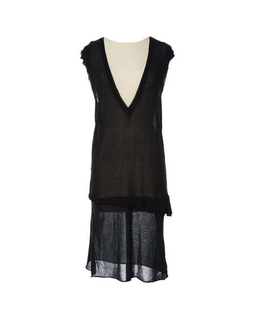 Zadig & Voltaire - Black Cotton Dress - Lyst