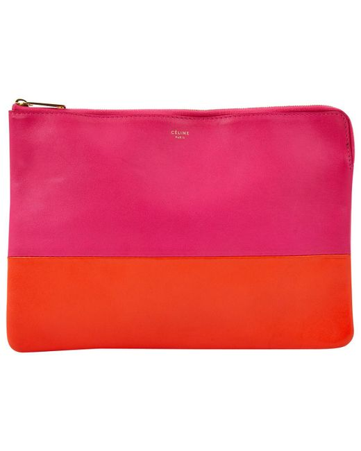 0a0577dc28f9 Lyst céline leather clutch bag in pink jpeg 520x650 Celine clutch bag