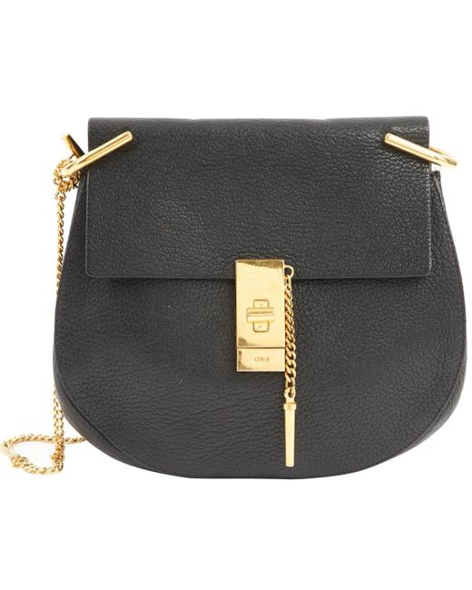 Chloé Drew Black Leather Handbag