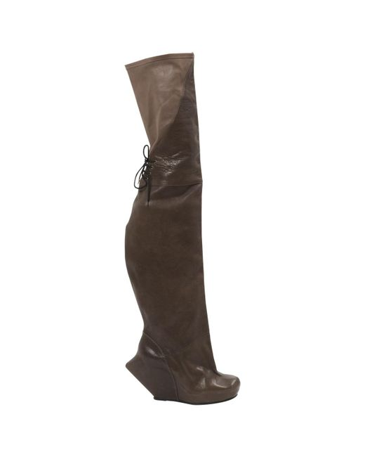 Rick Owens - Brown Pre-owned Leather Boots - Lyst