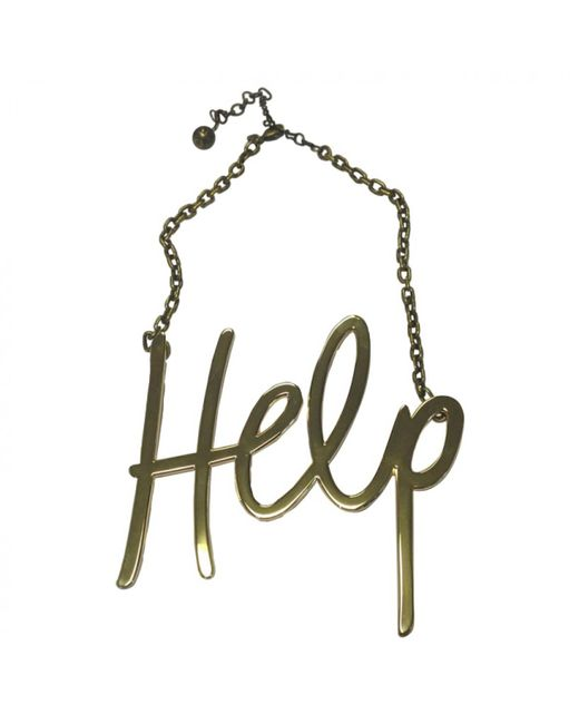 Lanvin - Metallic Pre-owned Gold Metal Necklaces - Lyst