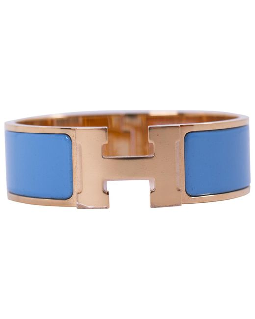 Hermès - Clic H Blue Metal Bracelets - Lyst