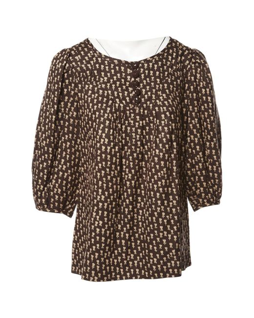 Marc By Marc Jacobs - Brown Silk Blouse - Lyst