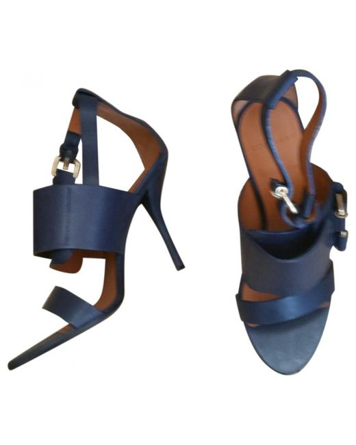 Givenchy - Blue Pre-owned Leather Sandals - Lyst