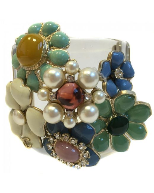 Chanel - Green Multicolour Bracelet - Lyst