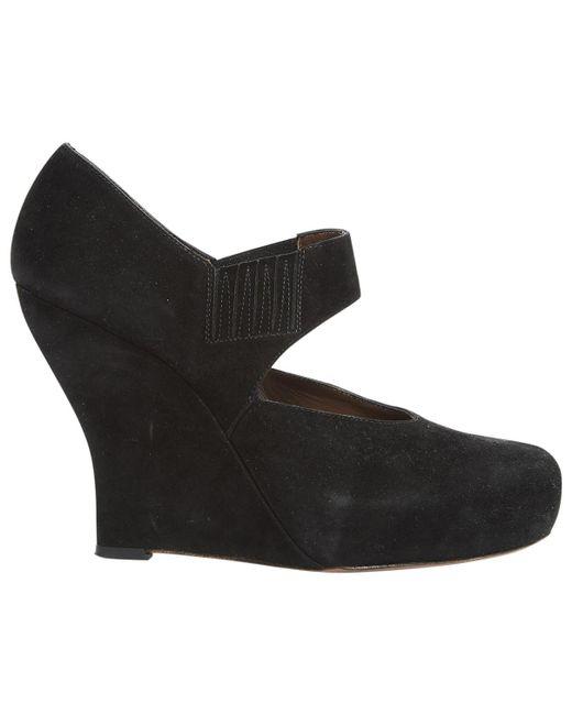 Marni - Black Suede Heels - Lyst