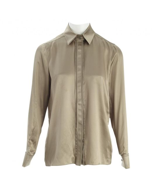 Givenchy - Natural Pre-owned Silk Shirt - Lyst